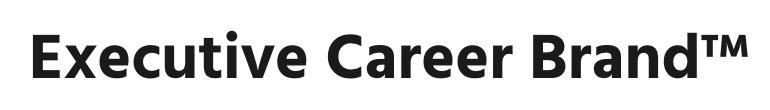 Executive career brand logo